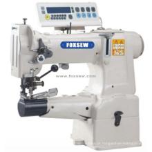 Máquina resistente de Lockstich da alimentação do uníssono da cama do cilindro da movimentação direta com cortador