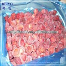 Fresas en cubitos congeladas