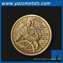 kundenspezifische gravierte Münze, fertigen Sie Qualitätsereignemünze besonders an,