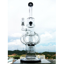 "Hb-K57 ""The Atomic Nucleus"" 8 Arm Recycler Rocket Shape Glass Smoking Water Pipe"