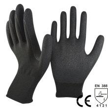 NMSAFETY en388 gant de travail enduit nitrile sable noir de calibre 13