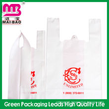 Supermarket shopping opaque plastic bag