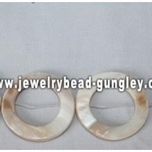 donut branco forma água doce shell beads