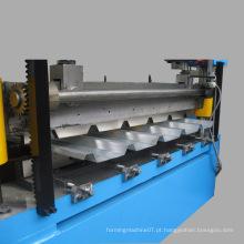 Máquina ondulada de laminação de folha de telhado de metal, máquina de formação de rolo de papelão ondulado