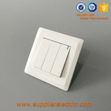 Top Quality Electrical 3 Gang 1 Way 2 Way Wall Switch Push Button Light Switch with Neon