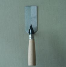 Batu-bata trowel alat tangan dengan pemegang kayu