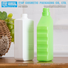 540ml 550ml skincare/industrial standard 28/410 hard rectangle plastic bottle pe