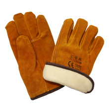 Thinsulate Full Lining Winter Warm Cow Leather Drivers Driving Gloves