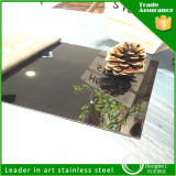price list black titanium coated stainless steel sheet for pvc film sheets