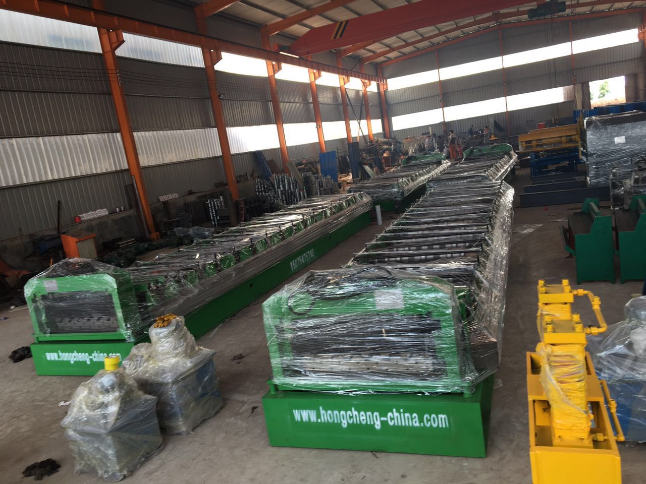 deck floor tile molding machine