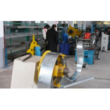 Chain Drive 18 Roller Stations Fire Damper Metal Fabrication Equipment