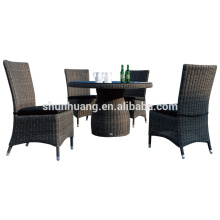 Outdoor rattan furniture wicker chair and table rattan dining sets