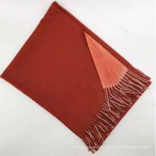 tricô cor lisa 100% cashmere cachecol de inverno