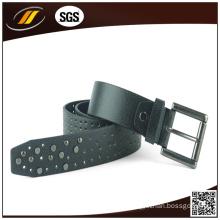 Italian Black Pure Leather Belt New Design Fashion Men′s Belt