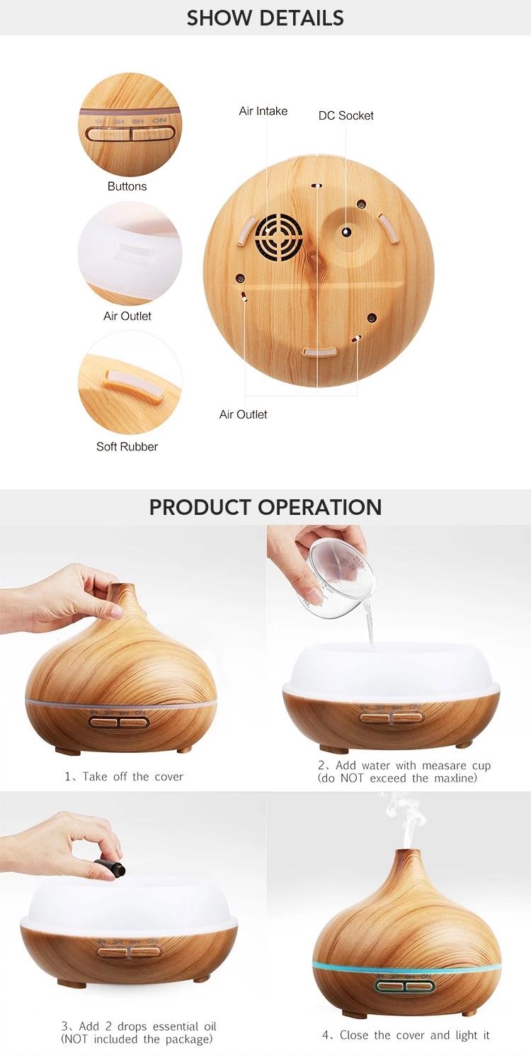 Aroma Diffuser 300ml Wood Grain