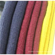 Tissu tweed 100% coton pour vêtement populaire