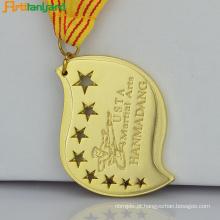 Medalhões gravados personalizados com logotipo em relevo