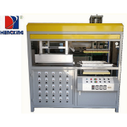 Plastic sheet molding machine with auto-running furnace