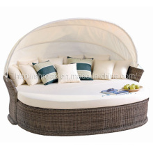 Muebles de mimbre Hotel tumbona al aire libre de Patio de jardín en ratán