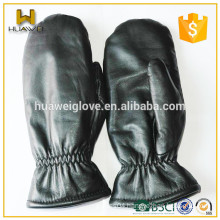 Warm Artificial Wool Lined Men's Leather Gloves Sheepskin Leather Mittens(Factory Price)