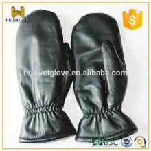 Warm Artificial lã alinhada Luvas de couro dos homens Luvas de couro de pele de carneiro (preço de fábrica)