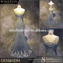 2016 Guangzhou fornecedor V-neckline coberto de volta ebay vestidos de noite