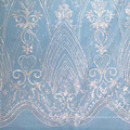 Clear Sequin Tulle Lace Fabric for Wedding Dress