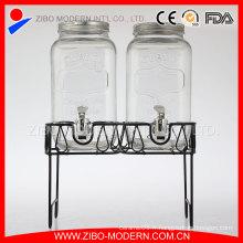 Vente en gros Distributeur de boissons en verre / Distributeur de jus de verre / Distributeur de boissons en verre