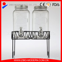 Оптовый стеклянный диспенсер напитка / стеклянный распределитель сока / стеклянный дозатор напитка