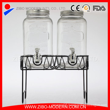 Wholesale Glass Beverage Dispenser/Glass Juice Dispenser/Glass Drink Dispenser