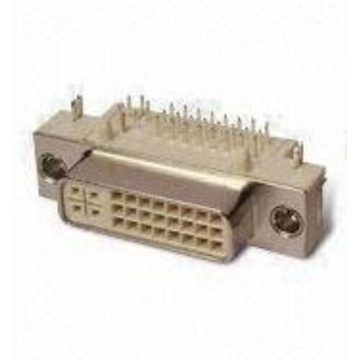 DVI 24 + 5 female-hoek DIP-connector
