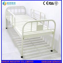 ISO / Ce genehmigt wettbewerbsfähiges Edelstahl flaches Krankenhausbett