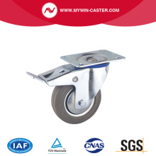 Swivel Gray Rubber Industrial Caster Brake