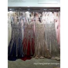 Sexy Beading Stripe Mature Pattern Arabic Evening Dress
