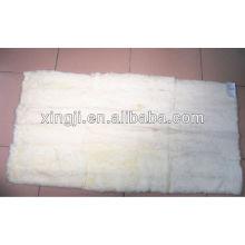 couleur blanche naturelle meilleure qualité rex lapin plaque