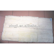 natural white color best quality rex rabbit plate