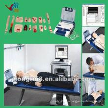 Maniquí de entrenamiento avanzado de la RCP de ISO con AED y cuidado del trauma
