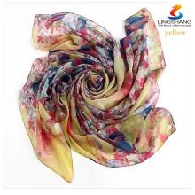 2015 la nueva bufanda cuadrada de seda de la manera las mujeres coloridas forman a alta calidad de la marca de fábrica el mantón de múltiples funciones de las bufandas del satén del bandana