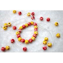 Perles en bois rondes pour faire des bracelets et des colliers
