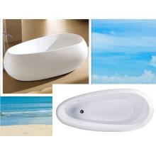 Tina independiente de la pintura de la tina de baño del diseño de acrílico de Cupc Unique