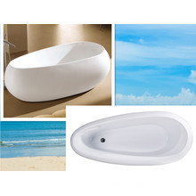 Cupc Unique Acrylic Design Bath Tub Freestanding Paint Tub
