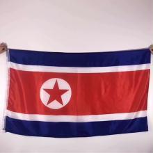 100% Polyester 3x5 ft Korea Nordkoreanische Flagge