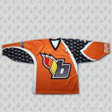 Hockey sobre hielo transpirable personalizado Jersey (018)