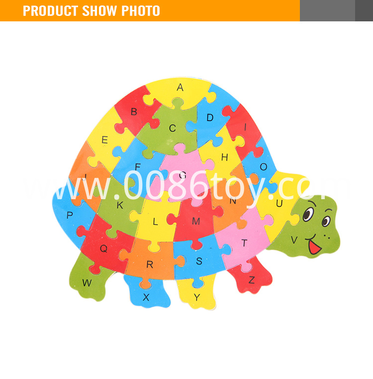 Popular educational toy wooden animal puzzle