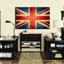 Impresión creativa del arte de la lona de la bandera de Kindom unida para la decoración colgante de la pared