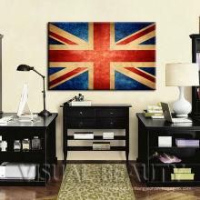 Творческий United Kindom флаг холст искусство печати для навешивания стены украшения