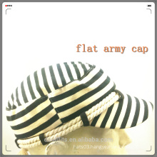 Zebra stripe new style falt army hat and high quality made in china