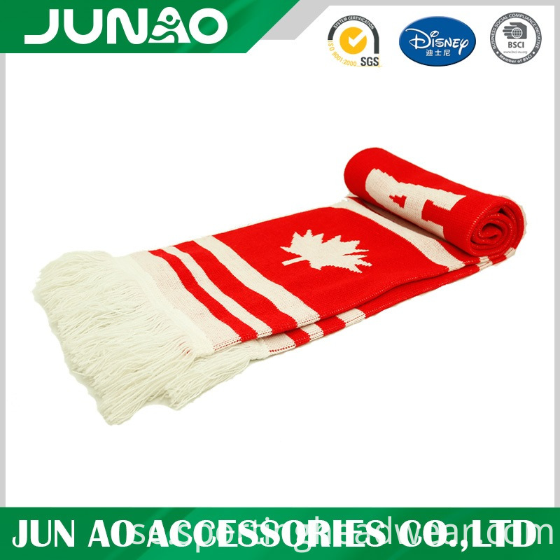 jaquard kniited long scarf