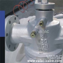 Wcb/CF8/CF8m Lubricated Plug Valve with Lever Operated
