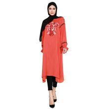 2018 Design Floral marokkanischen Kaftan muslimischen Frauen Kleid Abaya von Jeddah